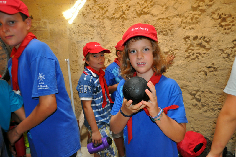 Ada holding a 5kg canonball