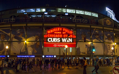 Wrigley Field in Chicago, IL.  Jake Arrieta's 20th win against the Milwaukee Brewers.
