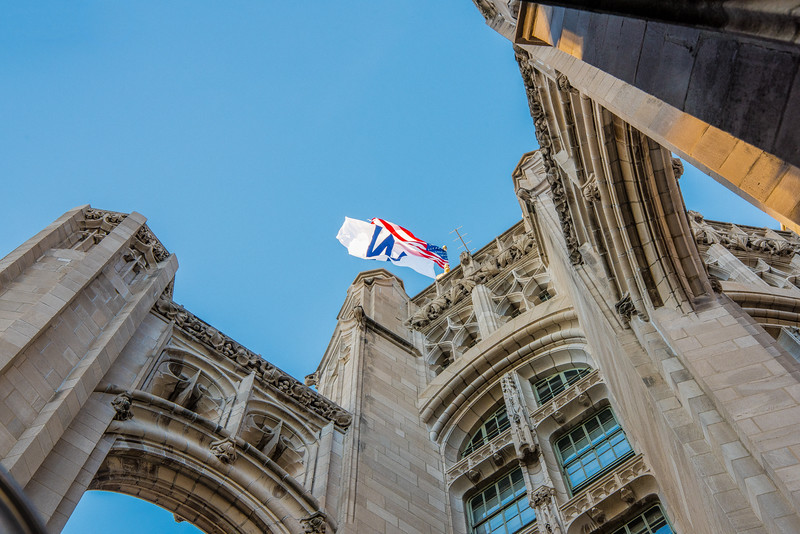 Trib Tower W Flag thru Buttresses Take 1 - John O'Neill (1 of 1)