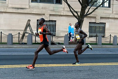 50 Meters to the finish of the 2017 Credit Union Cherry Blossom Ten Mile Run
