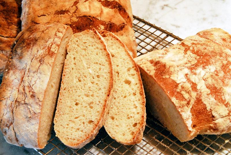 Ciabatta, Peter Reinhart BBA recipe, my first loaves