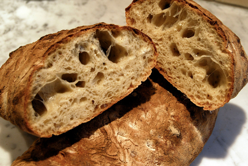 Ciabatta, Peter Reinhart BBA recipe with revisions