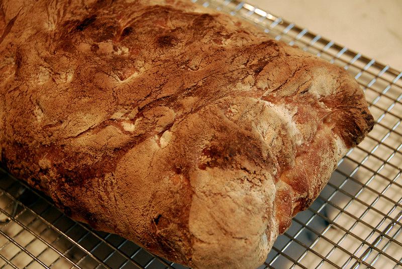 Ciabatta, Peter Reinhart BBA recipe with revisions