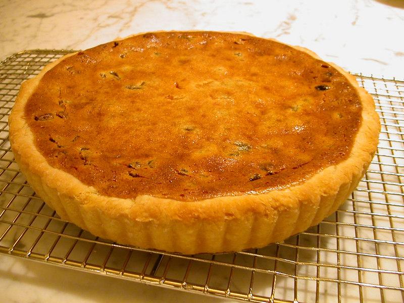 Raisin Cream Pie (baked in tart pan)