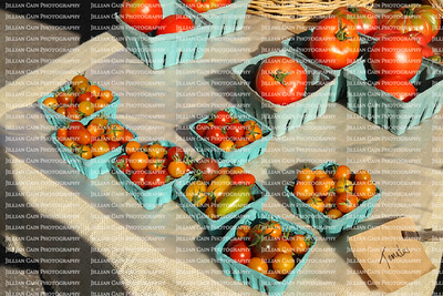 Tomatoes for sale at a Farmers' Market