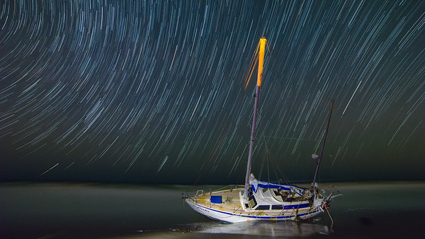 Ghost boat and the stars