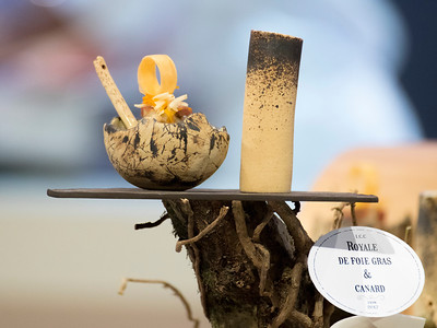 Le royal de foie gras et canard de L'équipe France, qui à remporté le Trophée Argent