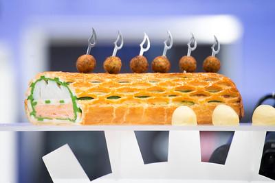 """""""La truite et cabillaud en croute de feuilletage et sa quenelle de saint-jaques avec sauce au vin blanc""""  de L'équipe Suisse, qui à remporté le prix du Meilleur Traiteur du Monde"""