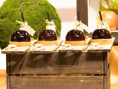 """Le dessert """" Pomme, poire et chocolat"""" de l'équipe du Canada qui a remporté le  Prix du plus beau « Buffet Traiteur »"""