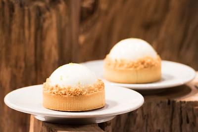"""le dessert """"pomme poire et chocolat"""" de L'équipe de Singapour, qui à remporté le Trophée Bronze"""