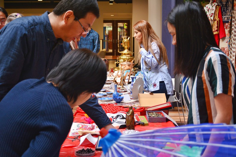 An international cultural feast you should not miss in K-State. Teachers and student playing go at Chinese tooth. 4/12/2018 (Bill Zhu | Collegian Media Group)