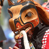 Coastal Dancer in Wolf Mask at a Pole Raising Ceremony at the Seattle Center for Wooden Boats, August 2007