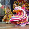 A young dancer with a Mexican Folklore group performs at the Northwest Folklife Festival, May 2005.