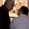 "At the Burke Museum Opening of ""In the Spirit of our Ancestors,"" art sparks a conversation.  February 2007."
