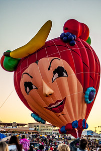 Albuquerque Balloon night glow event 1