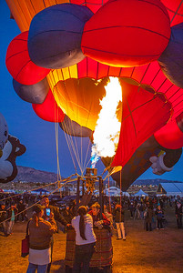 Albuquerque Balloon night glow event 3