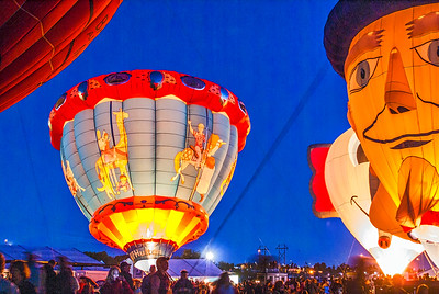 Albuquerque Balloon night glow event 4
