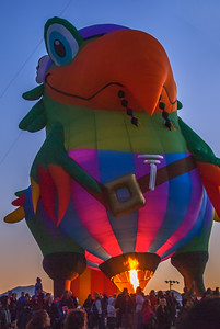 Albuquerque Balloon night glow event 2