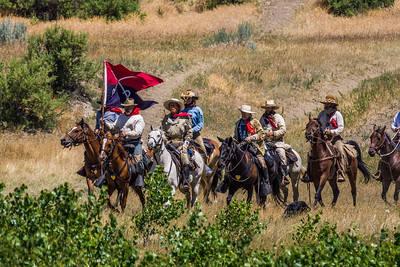 General Custer and his Entourage