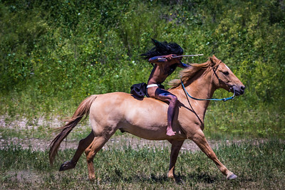 Lakota Warrior Riding Bareback