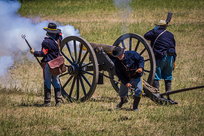 Cannon Fired Across Little Bighorn River
