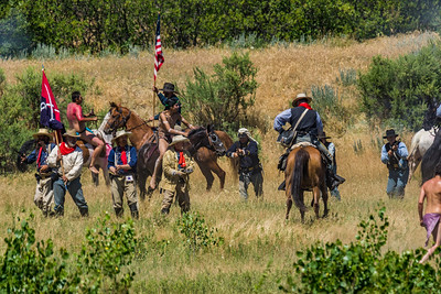 Custer And His Troops Fighting The Indians 1