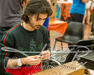 Playing the Santoor - a traditional Iranian (Persian) musical instrument.