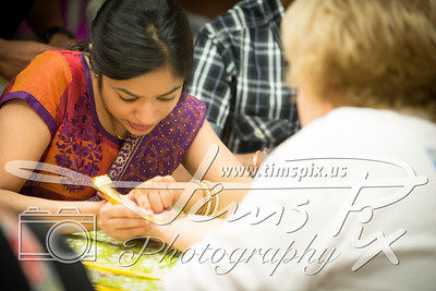 A steady hand makes beautiful henna designs possible