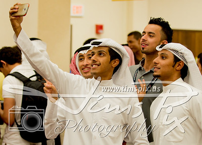 """Fun with a """"Selfie"""" while decked out in the finest kandouras, sifrahs, and agaals"""