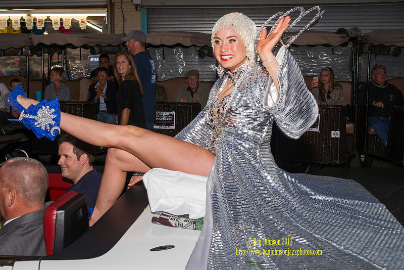 The 2014 Miss American Contestants ride in The Show Me Your Shoes Parade in Atlantic City