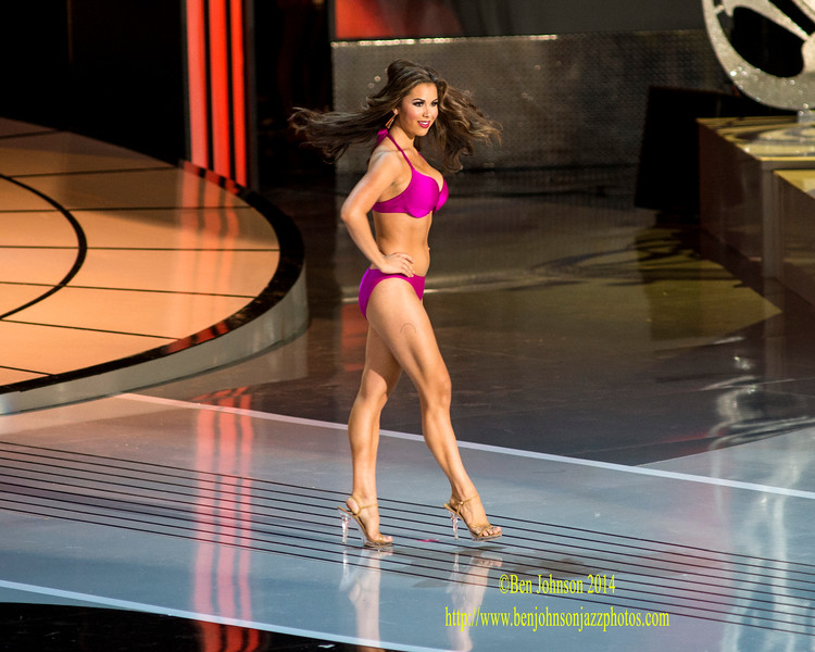The 2015 Miss American Contestants compete in day 1 of the preliminaries in Atlantic City