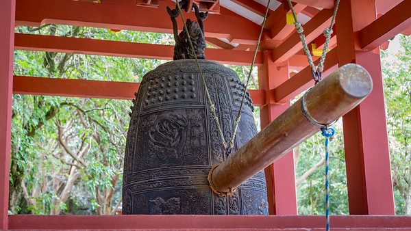 Bon-sho (sacred bell) at Byodo-in Temple in Valley of the Temples, Oahu, Hawaii