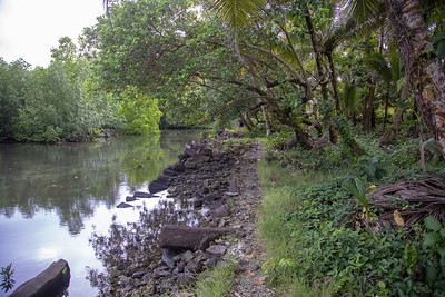 Nan Madol, an archeological site of an ancient stone village on Pohnpei, FSM