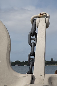 Anchor from the USS Arizona at the World War II Valor in the Pacific National Monument, O`ahu, Hawai`i