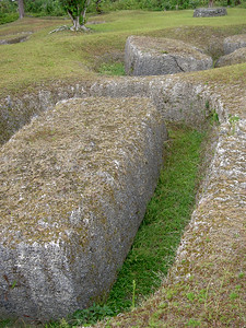Latte stone quarry at As Nieves, Rota, CNMI