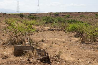 Old cane labd irrigation system on O`ahu