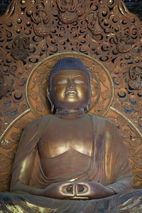Amida Buddha in the Byodo-in Temple on O`ahu
