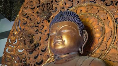 Amida Buddha in the Byodo-in Temple on O`ahu