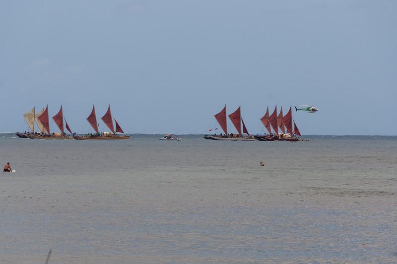 Hōkūle`a visits Hanalei Bay