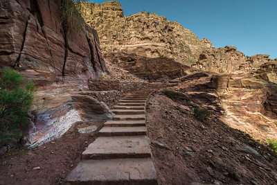 Trail to the High Place of Sacrifice in Petra Jordan