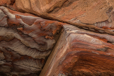 Detail of the rocks in Petra Jordan