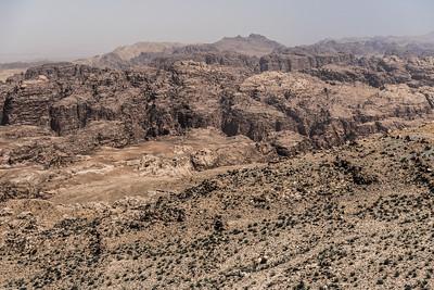 View of the Jordanian desert near Petra