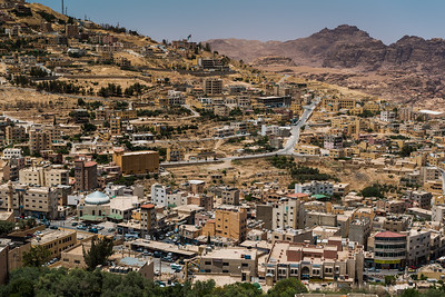 View of Wadi Musa Jordan from above