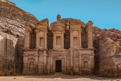 Facade of the Monastery in Petra Jordan