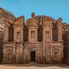 Facade of the Monastery in Petra Jordan