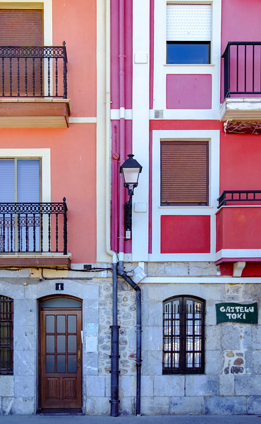Colorful walls in Bermeo