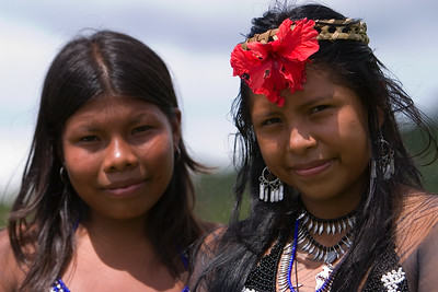 Embera women, Chagres National Park, Panama.