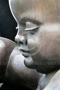 Cult-LOVE 00009 A new born baby's face is a peek at the face of God's and God's tranquility, statue picture by Peter J Mancus
