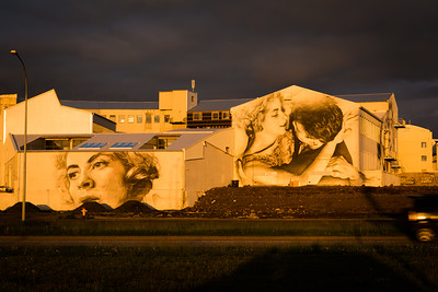 RVK-RVX project murals on the Loftkastalinn building in Reykjavik Iceland