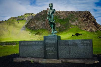Statue in memory of Icelandic settlers of Utah